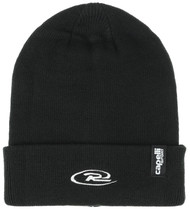 CAJUN RUSH  SOCCER CUFF BEANIE WITH EMBROIDERED LOGO   --  BLACK WHITE