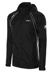 ELITE SPORT TRAINING RAVEN RAIN JACKET -- BLACK WHITE