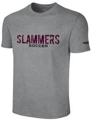 SLAMMERS CDA BASICS TEE SHIRT W/SLAMMERS SOCCER GRAPHIC   LOGO --- LIGHT HEATHER GREY BLACK