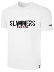 SLAMMERS CDA BASICS TEE SHIRT W/SLAMMERS SOCCER GRAPHIC LOGO ---- WHITE BLACK