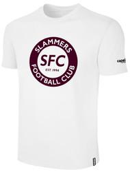 SLAMMERS CDA BASICS TEE SHIRT W/SFC CIRCLED LOGO --- WHITE BLACK