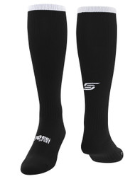 ELITE SPORT TRAINING  CS ONE SOCCER SOCKS -- BLACK WHITE