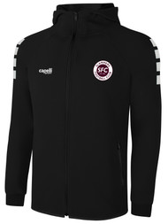 SLAMMERS CDA LIFESTYLE TECH FLEECE ZIP UP HOODIE --- BLACK WHITE -- IS ON BACK ORDER, WILL SHIP BY 2/8/21