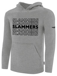 SLAMMERS CDA BASICS HOODIE W/SLAMMERS GRAPHIC LOGO  -- LIGHT HEATHER GREY BLACK