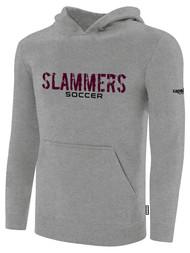 SLAMMERS CDA BASICS HOODIE W/SLAMMERS SOCCER GRAPHIC LOGO  -- LIGHT HEATHER GREY BLACK