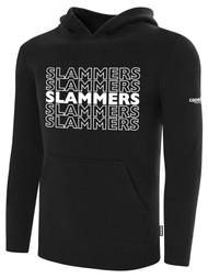 SLAMMERS CDA BASICS HOODIE W/SLAMMERS GRAPHIC LOGO  -- BLACK WHITE