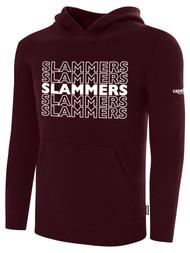 SLAMMERS CDA BASICS HOODIE W/SLAMMERS GRAPHIC LOGO  -- MAROON WHITE