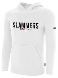 SLAMMERS CDA BASICS HOODIE W/SLAMMERS SOCCER GRAPHIC LOGO  -- WHITE  BLACK