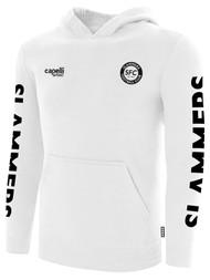 SLAMMERS CDA BASICS HOODIE W/ SMALL SFC LOGO    -- WHITE BLACK