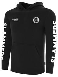 SLAMMERS CDA BASICS HOODIE W/ SMALL SFC LOGO    -- BLACK WHITE