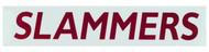 """SLAMMERS CAR WINDOW DECAL 7.2""""W x 1.54""""H    --  MAROON DARK GREY"""