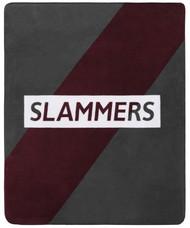 """SLAMMERS FLEECE THROW 50""""W x 60""""H    --  MAROON DARK GREY"""