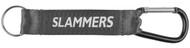 "SLAMMERS  FC CARABINER KEYCHAIN 7.75""H x 0.85""W    --  MAROON DARK GREY"