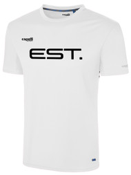 ELITE SPORT TRAINING  BASICS I SHORT SLEEVE TRAINING TOP -- WHITE