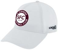 SLAMMERS CDA BASEBALL CAP     --  WHITE BLACK