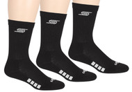ELITE SPORT TRAINING CREW SOCKS -- BLACK