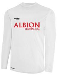 ALBION CENTRAL CAL BASICS I LONG SLEEVE TRAINING JERSEY  --  WHITE