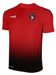 """MATCH FIT DENVILLE SOHO FUSION FIELD """"Ombre Dots"""" SHORT SLEEVE MATCH JERSEY -- RED BLACK"""