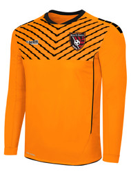 MATCH FIT DENVILLE FLASH SPARROW LONG SLEEVE GOALIE JERSEY WITH PADDING -- NEON ORANGE BLACK