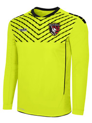 MATCH FIT DENVILLE FLASH SPARROW LONG SLEEVE GOALIE JERSEY WITH PADDING -- NEON YELLOW BLACK