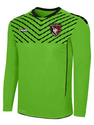 MATCH FIT DENVILLE FLASH SPARROW LONG SLEEVE GOALIE JERSEY WITH PADDING -- POWER GREEN BLACK
