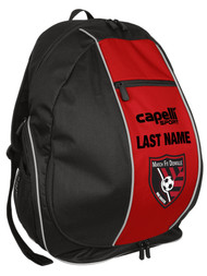 MATCH FIT DENVILLE CS ONE UTILITY BACKPACK -- BLACK RED