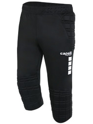 MATCH FIT DENVILLE BASICS I 3/4 GOALIE PANTS  -- BLACK WHITE