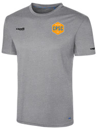 CPSC BASICS I SHORT SLEEVE TRAINING TOP -- LIGHT HEATHER GREY