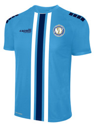 NYSC MADISON TRIPLE STRIPE HOME JERSEY  -- SKY BLUE WHITE NAVY --  YXS, YS ARE ON BACK ORDER, WILL SHIP BY 10/9