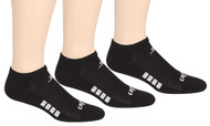 CPSC CS CUSHIONED NO SHOW SOCKS -- BLACK