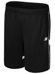 CSA RAVEN TRAINING SHORTS WITH POCKETS -- BLACK WHITE