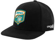 LAKELAND  TROPICS TRAVEL CS TEAM FLAT BRIM CAP -- BLACK