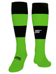 CSA CARACARA SOCKS -- POWER GREEN BLACK