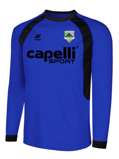 bed45dfe84a CSA RAVEN LONG SLEEVE GOALIE JERSEY -- ROYAL BLUE BLACK - Capelli Sport