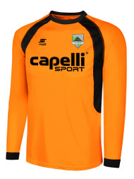 CSA RAVEN LONG SLEEVE GOALIE JERSEY -- ORANGE BLACK