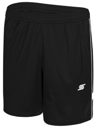 CSA WOMEN'S RAVEN TRAINING SHORTS WITH POCKETS -- BLACK WHITE