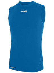 ALBION SAN DIEGO SLEEVELESS COMPRESSION PERFORMANCE TOP -- CAPELLI SPORT BLUE WHITE