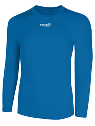 ALBION SAN DIEGO LONG SLEEVE PERFORMANCE TOP   --  CAPELLI SPORT BLUE WHITE