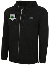 CSA WATERPROOF FLEECE HOODIE   --   BLACK COMBO