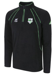 CSA RAVEN 1/4 ZIP FLEECE TOP -- GREEN COMBO