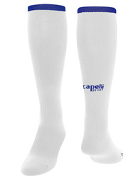 KEY BISCAYNE CS ONE MATCH SOCKS -- WHITE ROYAL BLUE