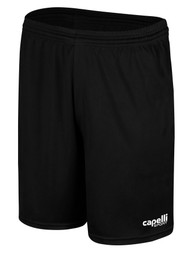KEY BISCAYNE CS ONE PIQUE GOALKEEPER SHORTS -- BLACK WHITE