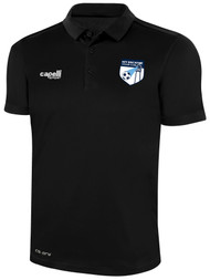 KEY BISCAYNE CLASSICS POLY POLO -- BLACK WHITE
