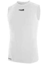 KEY BISCAYNE CAPELLI SPORT SLEEVELESS COMPRESSION PERFORMANCE TOP -- WHITE