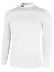 KEY BISCAYNE CAPELLI SPORT WARM LONG SLEEVES PERFORMANCE TOP -- WHITE