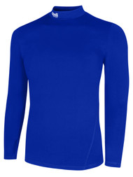 KEY BISCAYNE CAPELLI SPORT WARM LONG SLEEVES PERFORMANCE TOP -- ROYAL BLUE