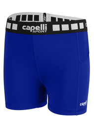 KEY BISCAYNE CAPELLI SPORT GIRLS 4'' INSEAM PERFORMANCE SHORTS -- ROYAL BLUE