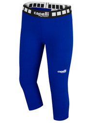 KEY BISCAYNE CAPELLI SPORT 3/4 PERFORMANCE TIGHTS GIRLS/WOMEN -- ROYAL BLUE