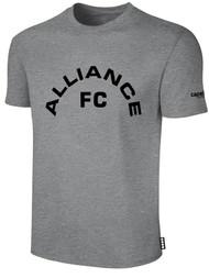 ALLIANCE FC BASICS TEE SHIRT TEXT CENTER CHEST -- LIGHT HEATHER GREY