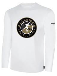 ALLIANCE FC BASICS LONG SLEEVE CREST CENTER CHEST -- WHITE BLACK